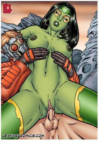 Leandro Comics Gamora pleasures herself (Guardians of the Galaxy)