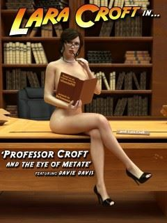 Teacher and Student fetish with slutty Lara Croft with glasses
