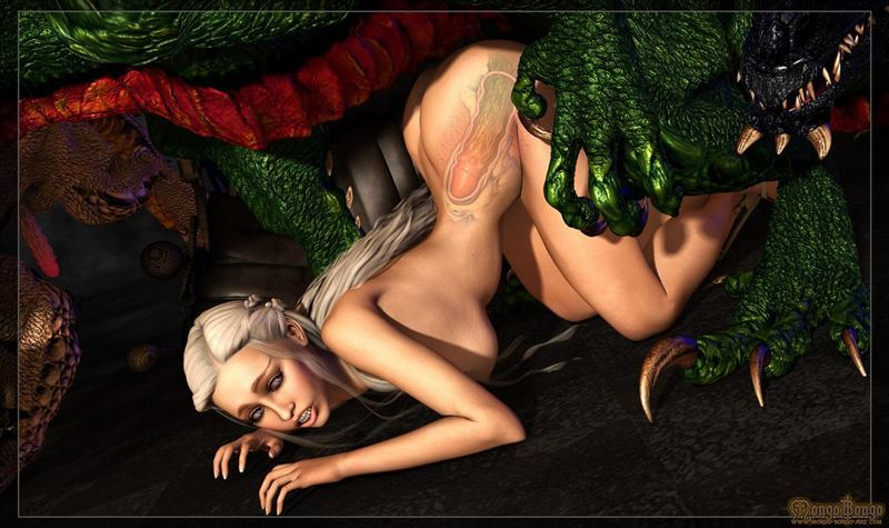Daenerys With Dragon From Games of Thrones by Mongo Bongo