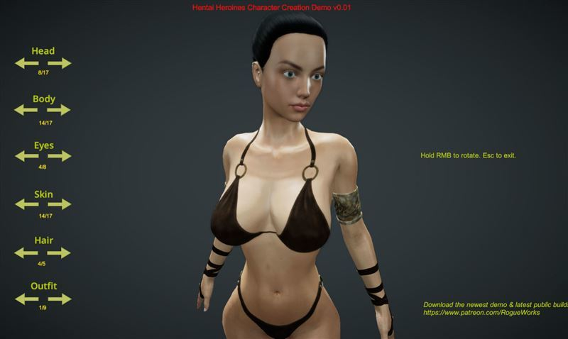 Hentai Heroines Character Creation Demo v0.1 from RogueWorks