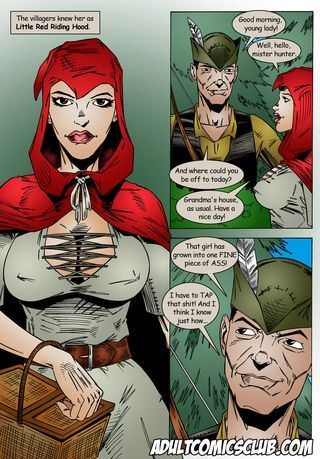 Leandro Comics Little Red Riding Hood meets the Hunter's Cock
