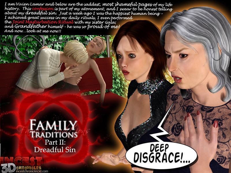 [Incestchronicles3d] Family Traditions. Part 2