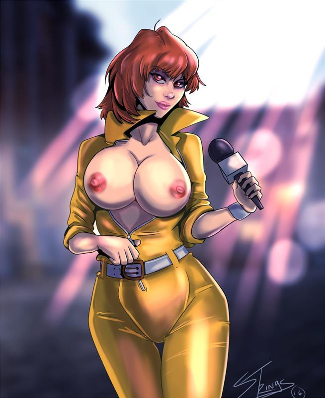 April O'Neil and many other hot cartoon babes in Porn Art Collection from Puppets