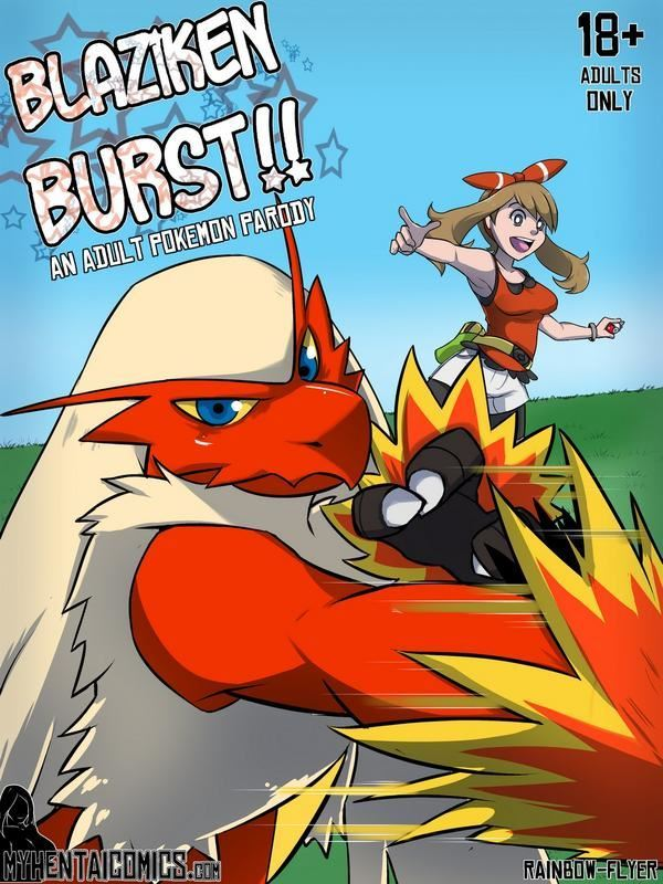 Blaziken Burst by Rainbow Flyer Pokemon