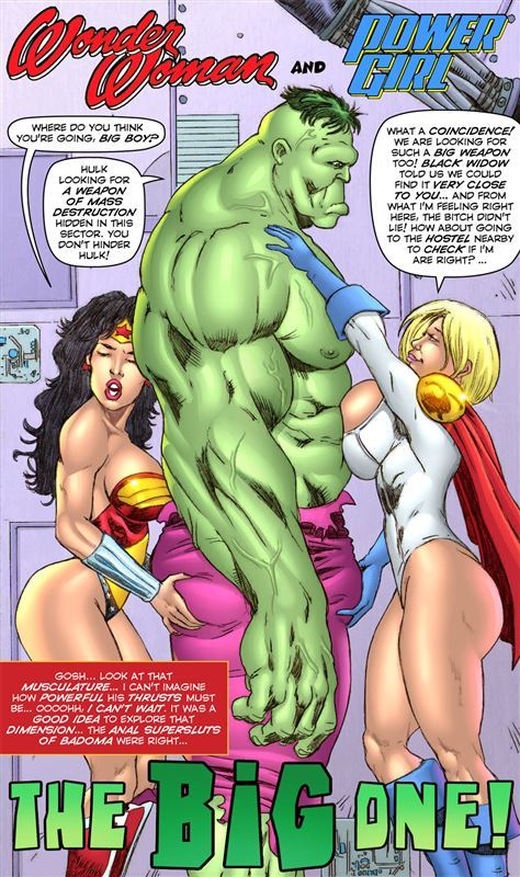 Superheroine ComiXXX The Big One Complete with Hulk and Wonder Woman