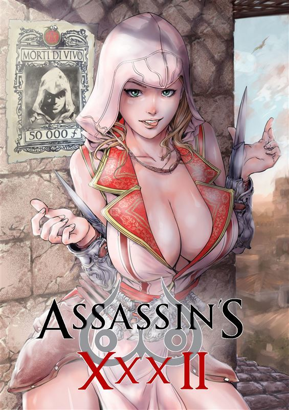 Sexy Chained Babe in Assassins Xxx II Parody
