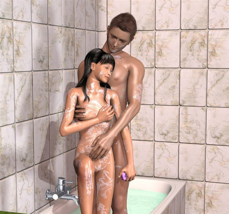 Couple in the Bath by Thor3d