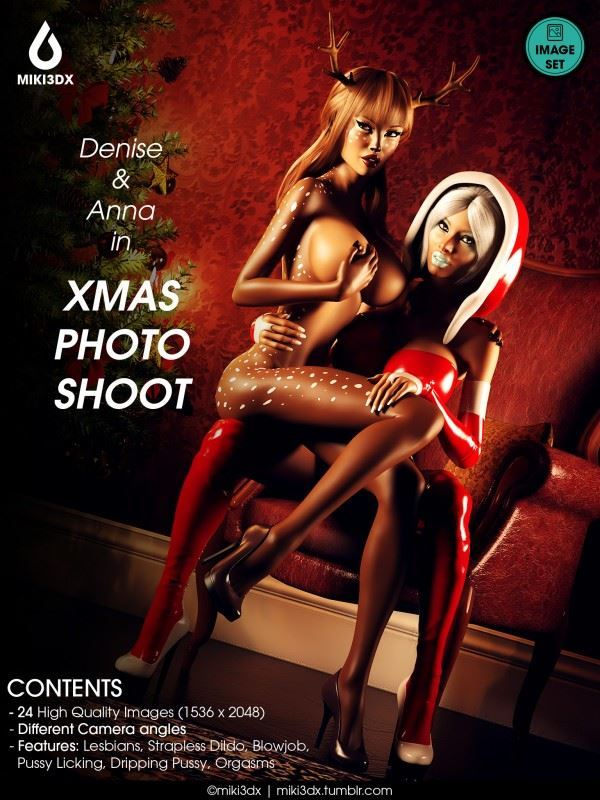 Miki3DX – Denise and Anna in Xmas Photo Shoot