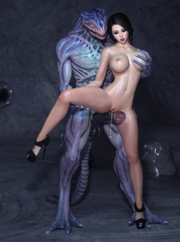 DizzyDills – Riding On The Monster Cock