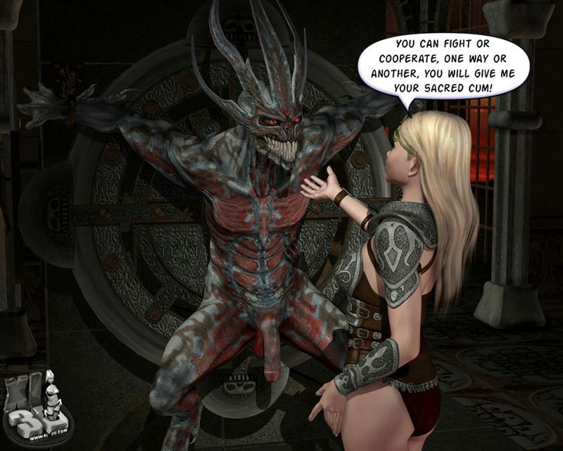 [XL3D] Hot elf lady has kinky sex with a demon