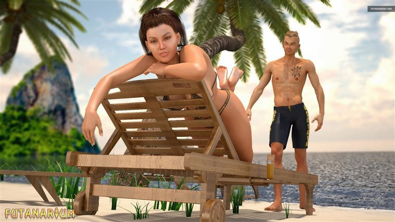 Futanari Beach by HyperComics3D