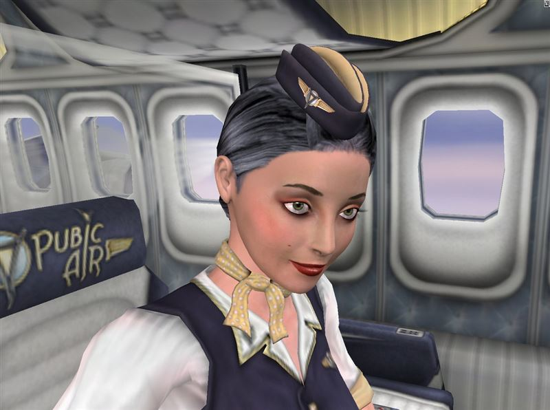 Naughty stewardess