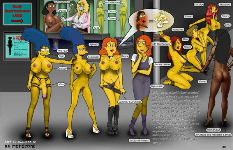 The Simpsons And Family Guy Porn Artwork By Monocone