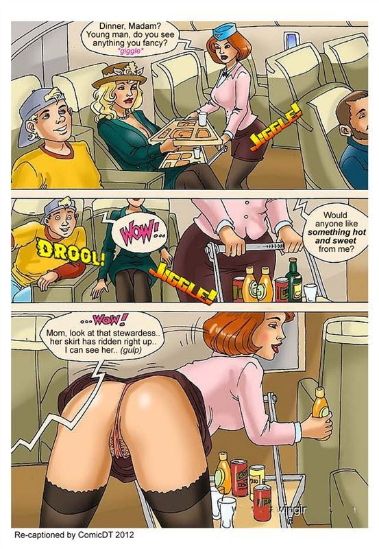 ComicDT – Mom Son on Plane